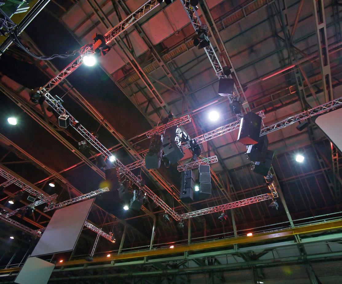 AMD Modenschau Buehnentechnik Lichttechnik Tontechnik Geruestbau