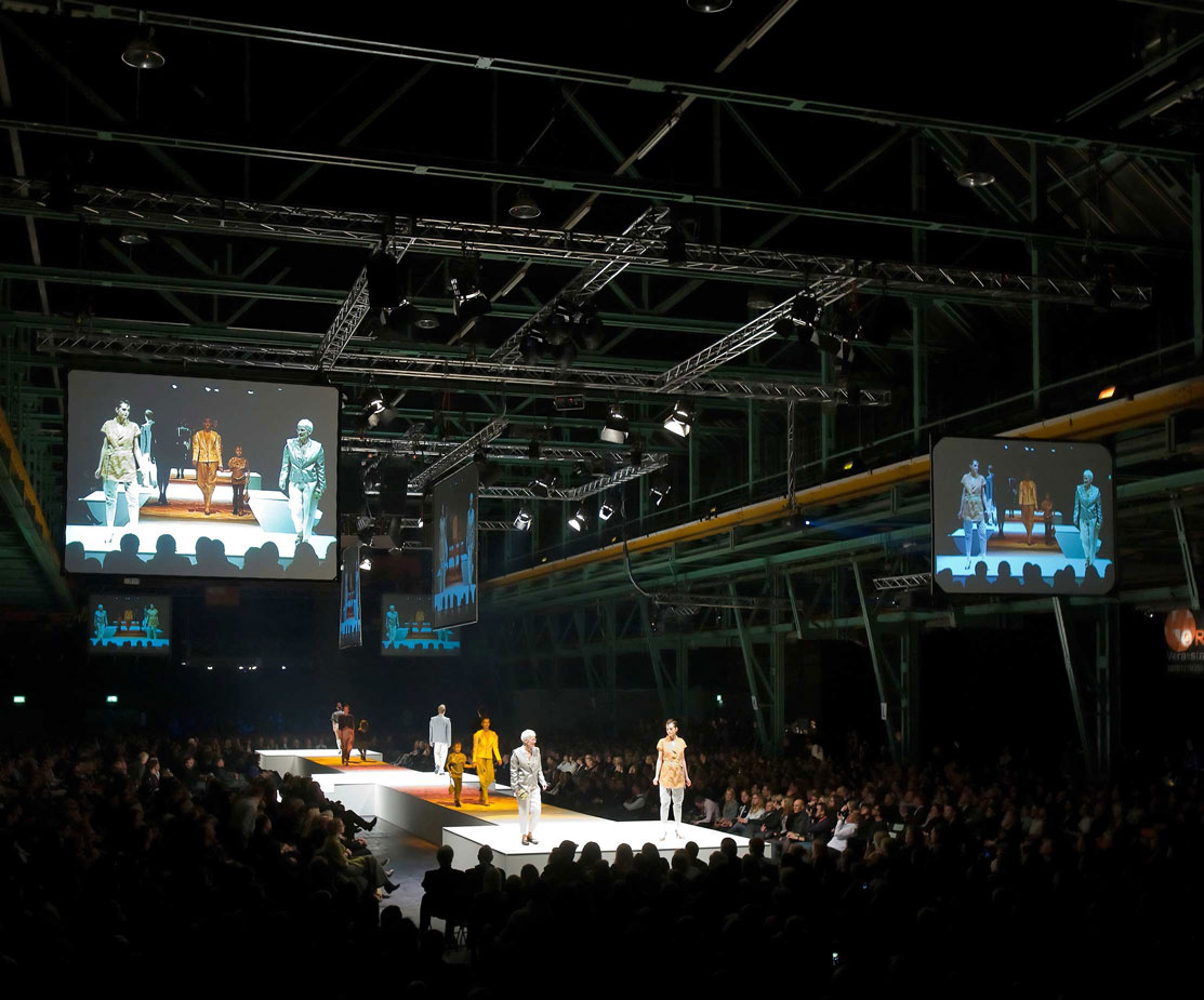 AMD Modenschau Buehnentechnik Lichttechnik Live Auftritt Show