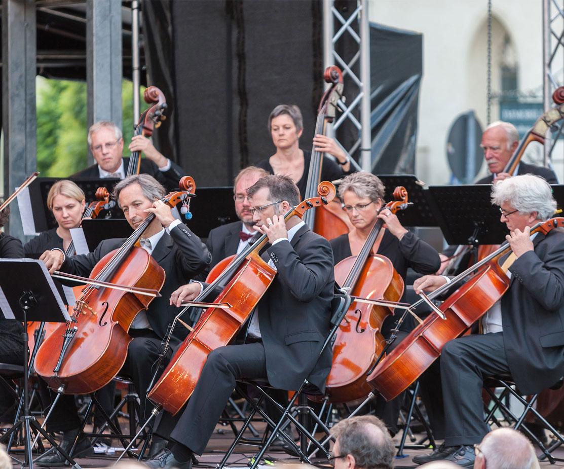 Klassikkonzert Sommerfestival Moosburg Buhnentechnik