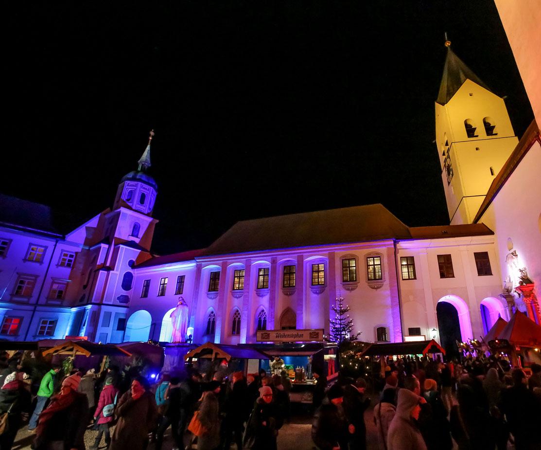 Lichttechnik Tontechnik Weihnachtsmarkt Freising Ambiente